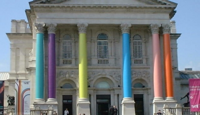 Tate Britain decorated for Days Like These exhibition